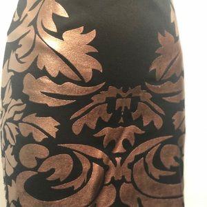 Dresses & Skirts - Black and bronze mini skirt